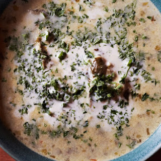 Creamy Oyster and Watercress Stew.