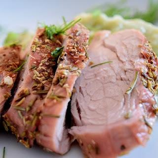Oven Baked Pork Tenderloin with Fennel.