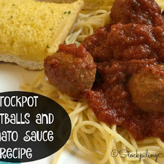 Crockpot Meatballs and Tomato Sauce