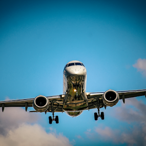 Airplane by Edi Libedinsky - Transportation Airplanes ( clouds, sky, fly, wings, airplane,  )