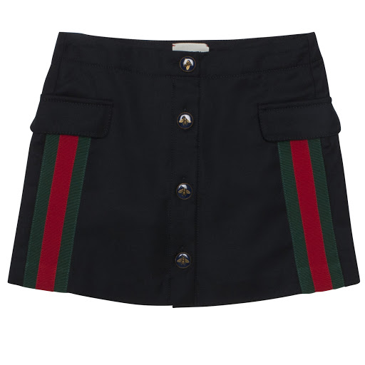 Thumbnail images of Gucci Wool Web Skirt