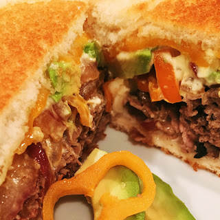 """Roast Beef Grilled Cheese """"Glider""""."""
