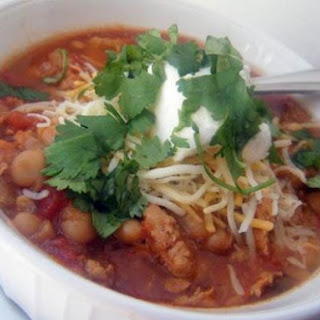 Mexican Style Chicken Chili (Slow Cooker).