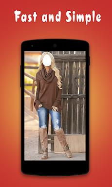 ジーンズで美しい女の子:ジーンズアプリ写真エディタのおすすめ画像5