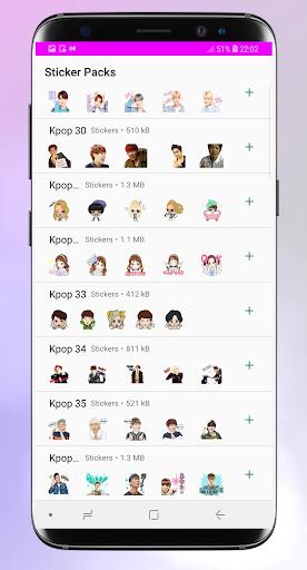 Stickers for whatsapp kpop - WAStickerApps Pro 1.3 screenshots 2