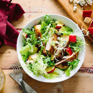Schnitzel and Pear Salad with Wheat Beer Vinaigrette.