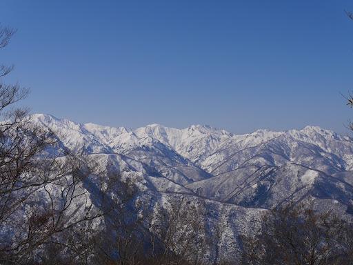 白山北方稜線の山々