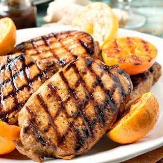 Ponzu Grilled Pork Chops.
