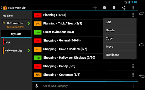 Halloween Planner- screenshot thumbnail