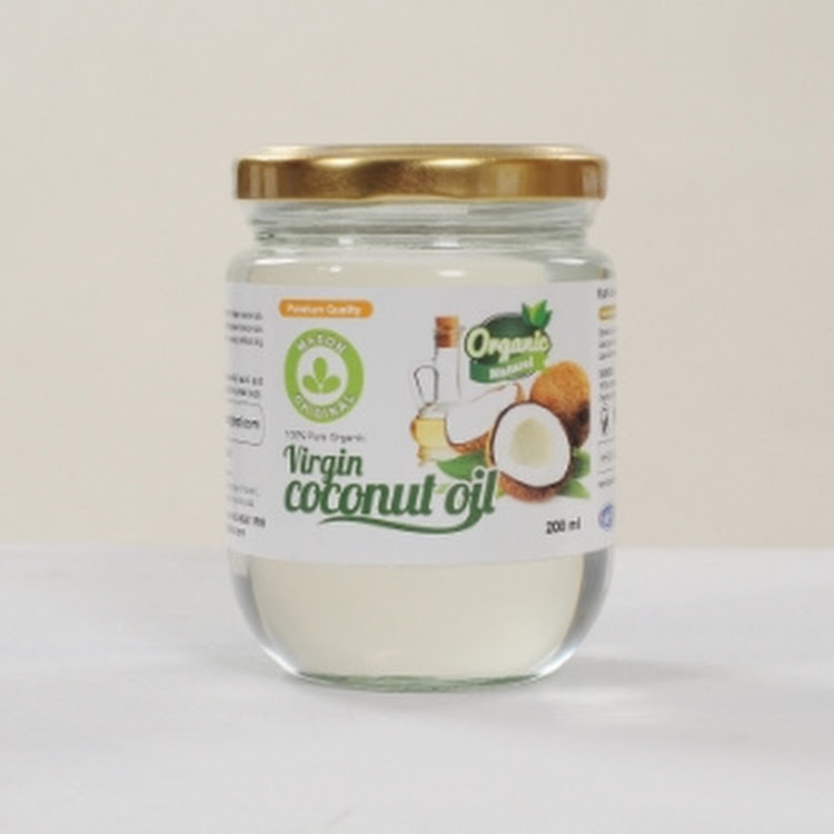 Mason Original Virgin Coconut Oil ( 200ml wide mouth glass jar ) by Atlantis Arena Sdn Bhd