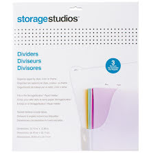 Storage Studios Tabbed Dividers W/Labels 3/Pkg