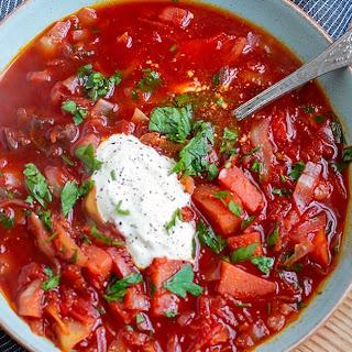 Pressure Cooker Borscht Soup.