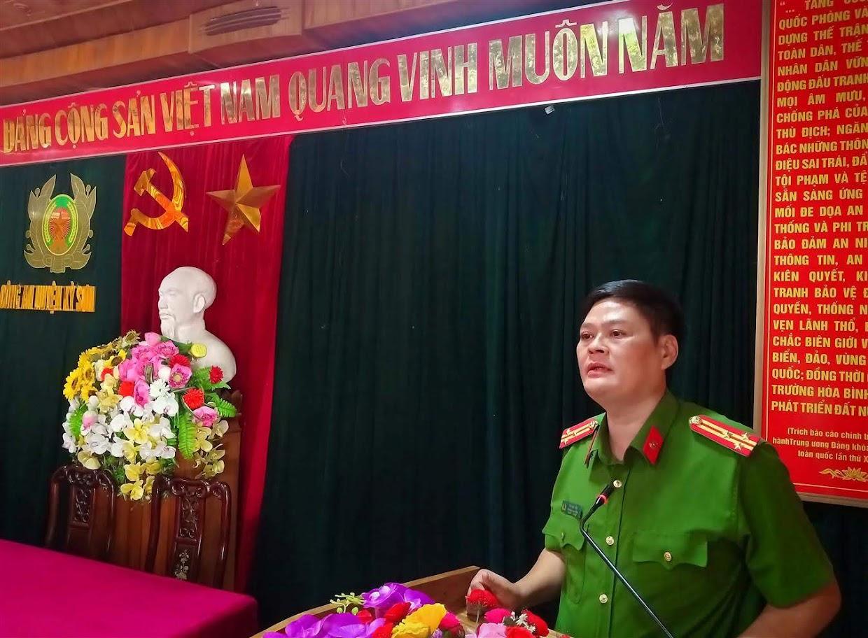 Thượng tá Tô Văn Hậu, Thủ trưởng Cơ quan Cảnh sát điều tra Công an huyện Kỳ Sơn báo cáo tóm tắt về quá trình xác lập và phá thành công Chuyên án 919T