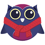 Owl in Scarf - Icon Pack Icon