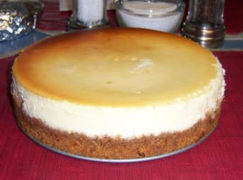 """Crack Proof: New York Style Cheesecake """"I have made this recipe several..."""