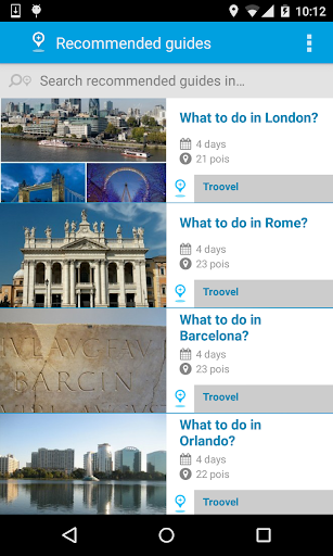 Troovel Itinerary Trip Planner