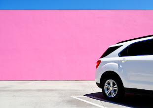 Photo: Pink, white and blue; Melrose Avenue, Los Angeles; August 2011