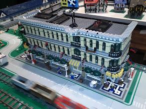 Photo: Three corner shop sets become one large shop.