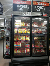 Photo: Next, we headed for the frozen foods department. for dinner. I found the Ore-Ida frozen french fries in one of the end cap freezers. They had a rollback price of $2.68.