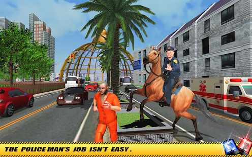 Offroad Police Horse Gangster Chase: City Cop Duty - náhled