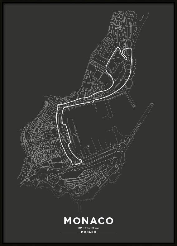 Poster, Monaco Park F1