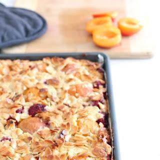 Raspberry, Apricot and Almond Slice