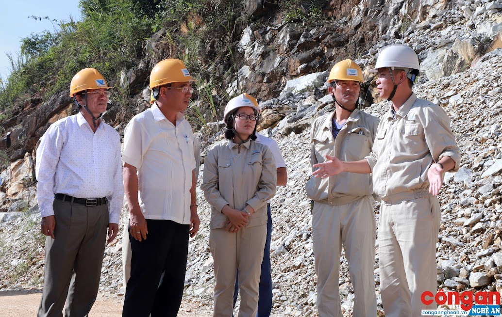 Phó Chủ tịch HĐND tỉnh Hoàng Viết Đường cùng Đoàn giám sát làm việc tại Công ty Khai thác đá vôi Yabashi Việt Nam