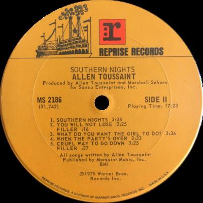 Levyetiketti: Southern Nights
