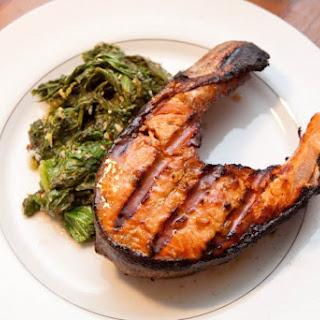 Maple Soy Salmon Steaks.