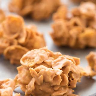 Butterscotch Peanut Butter Cornflake Clusters Recipe