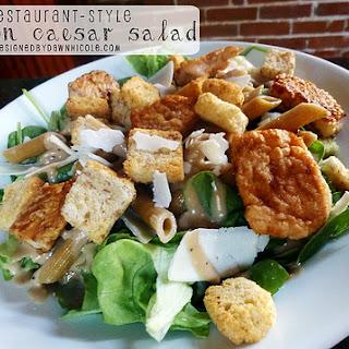 Restaurant-Style Salmon Caesar Salad.