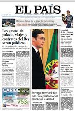 Photo: Portada del lunes 8 de abril: Los gastos de palacio, viajes y contratos del Rey serán públicos; la mitad de las reformas prometidas por Rajoy sigue sin aprobarse; Portugal recortará aún más en seguridad social, educación y sanidad; Mas negocia contra reloj con el PP y ERC para evitar el colapso; y elegidos para saltarse la cola, un club público con una lista de espera de décadas privilegia a la 'jet-set' y políticos.http://srv00.epimg.net/pdf/elpais/1aPagina/2013/04/ep-20130408.pdf