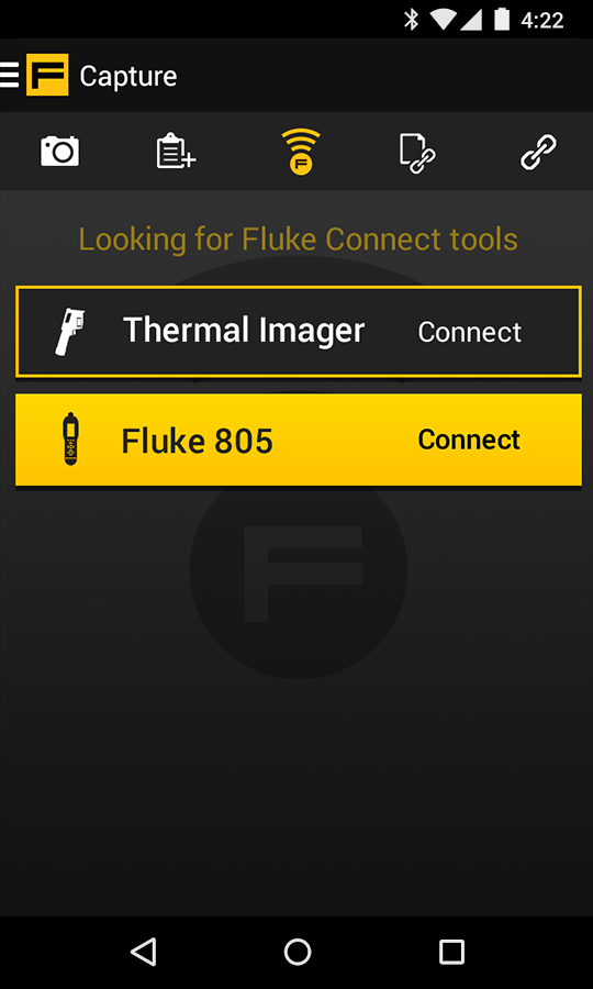 Fluke Connect- screenshot
