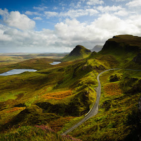 Skye by Chris Sargent - Landscapes Mountains & Hills ( scotland, skye, mountain, road, loch, scenic, light and shadow, pwcpaths )