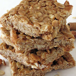 Peanut Butter and Honey Oat Bars.