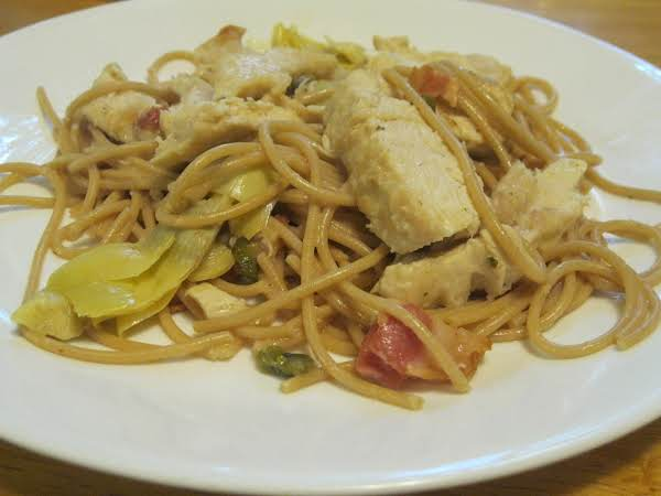 Artichoke, Lemon & Chicken Pasta