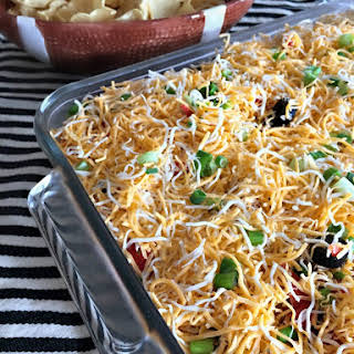 {Not Your Average} Mexican Layered Bean Dip.
