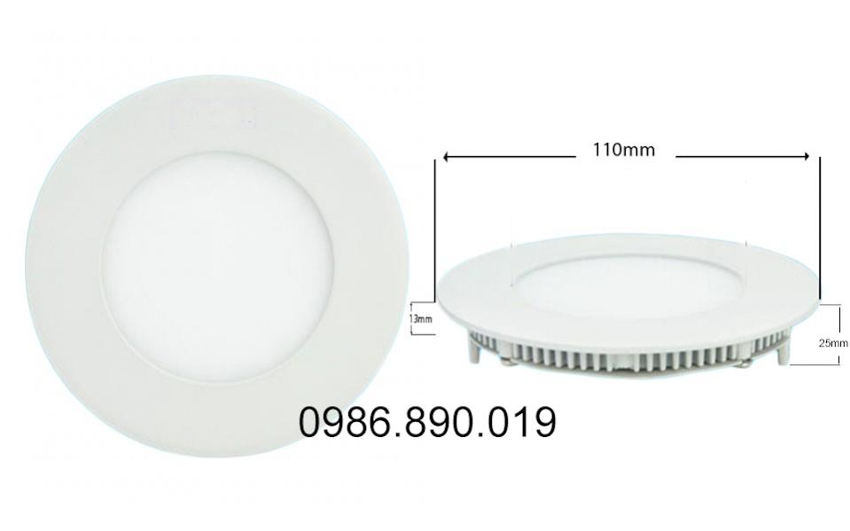 kích thước đèn led âm trần siêu mỏng