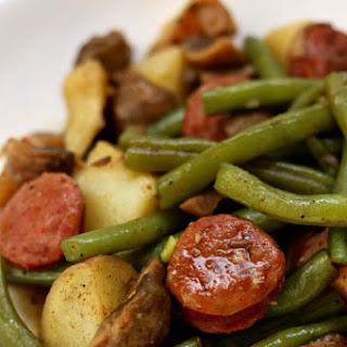 Instant Pot Cajun Sausage, Potatoes and Green Beans Recipe