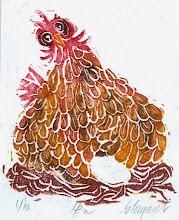 Photo: Hen Block print