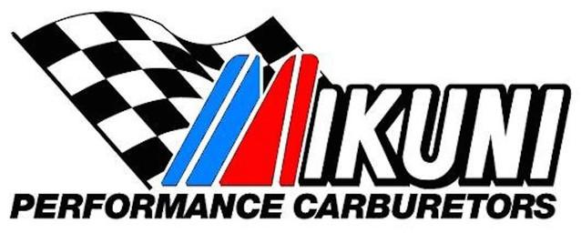 Logo Mikuni racing présenté par Machines et Moteurs le spécialistes des motos anglaises classiques.