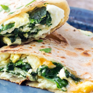 Healthy Breakfast Quesadilla.