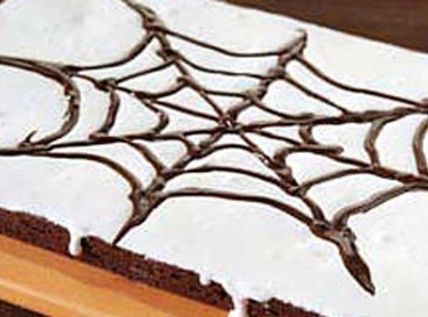 Creepy Crawling Spider Web Brownies Recipe