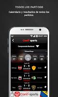 Screenshot of Claro Sports Ecuador