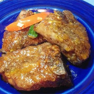 Lamb Chops in Duck Sauce.