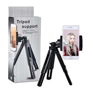 Trepied pentru telefon Tripod Support, flexibil, rotire 360 grade, Negru