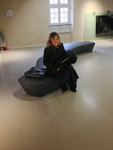 Photo: Pause en fin de parcours (retour à l'accueil). Grazie mille, Susanna, pour cette magnifique mise en espace ! (Susanna Ferrini, n!studio, Rome)