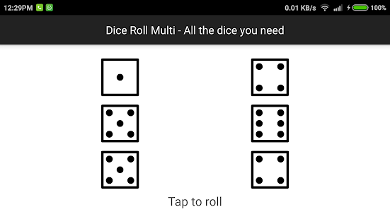 Dice Roll Multi- screenshot thumbnail