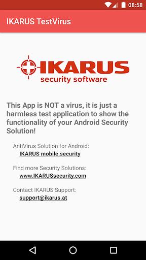 IKARUS TestVirus Apk 1