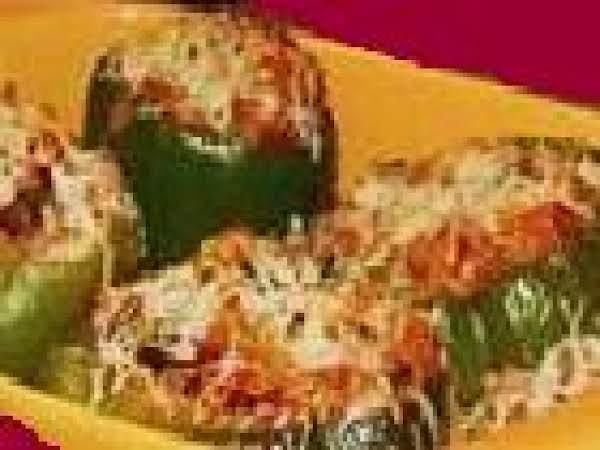 Stuffed Green Peppers- Mom's Recipe